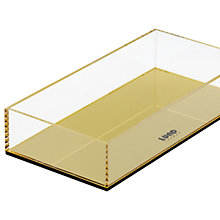 Buy Lund London Flash Open Tray, Gold Online at johnlewis.com