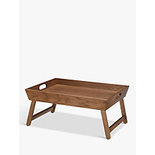 Buy Croft Collection Folding Oak Wood Bedroom Tray, Natural Online at johnlewis.com