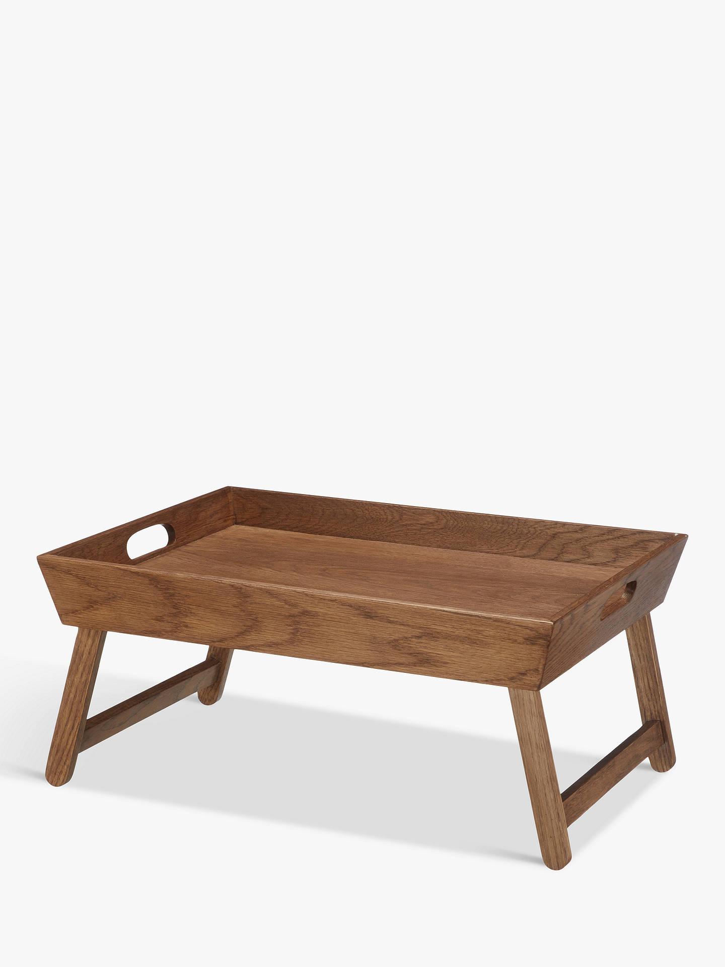 Croft Collection Folding Oak Wood Bedroom Tray Natural At