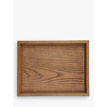 Buy John Lewis Croft Collection Oak Wood Stacking Tray, Natural, Small Online at johnlewis.com
