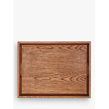Buy Croft Collection Oak Wood Stacking Tray, Natural, Medium Online at johnlewis.com
