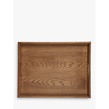 Buy John Lewis Croft Collection Oak Wood Stacking Tray, Natural, Large Online at johnlewis.com