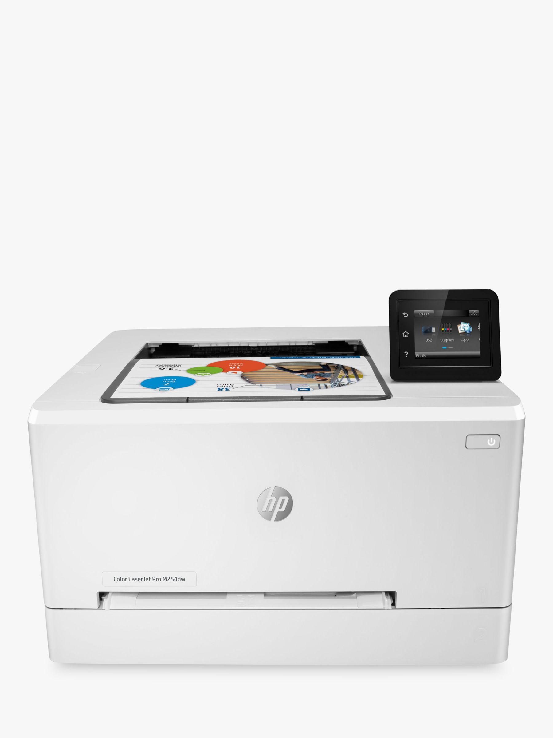HP LaserJet Pro M254DW Wireless Colour Printer with Wi-Fi & Instant-On  Technology, White