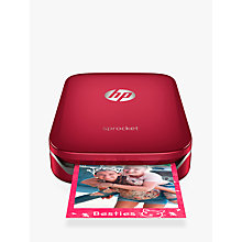 Buy HP Sprocket Z3Z93A Photo Printer, Red Online at johnlewis.com