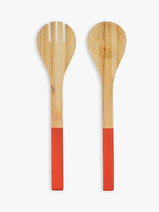 House by John Lewis Bamboo Salad Servers, Set of 2
