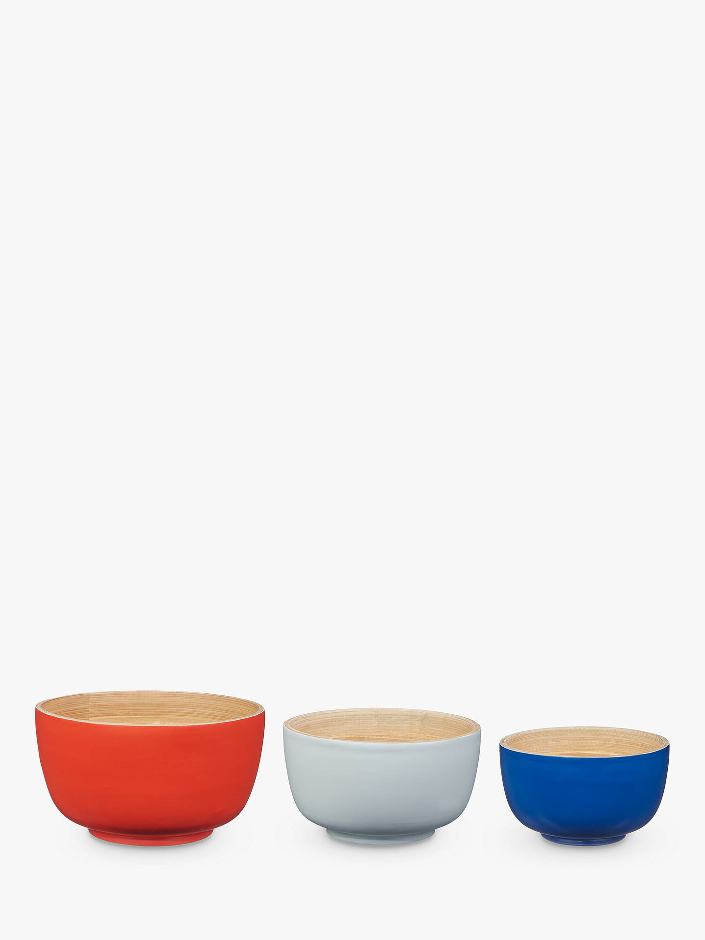 BuyHouse by John Lewis Nesting Bamboo Bowls, Assorted, Set of 3 Online at johnlewis.com