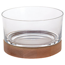 Buy Dartington Crystal Beech Wood and Glass Bowl, Clear/Natural Online at johnlewis.com
