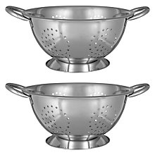 Buy John Lewis Stainless Steel Colanders, Set of 2 Online at johnlewis.com