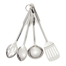Buy John Lewis Stainless Steel Kitchen Utensils, Set of 4 Online at johnlewis.com