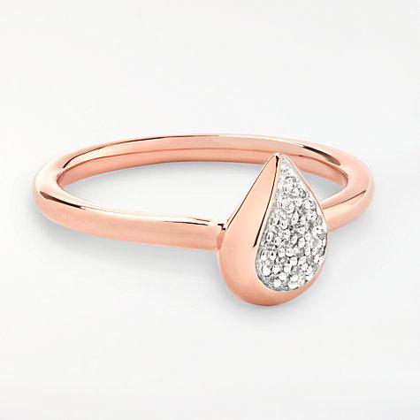Buy Modern Rarity Diamond Teardrop Ring Rose Gold