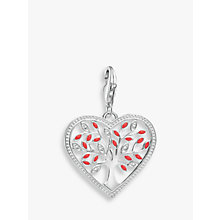 Buy Thomas Sabo Charm Club Tree of Love Heart Charm, Silver/Red Online at johnlewis.com