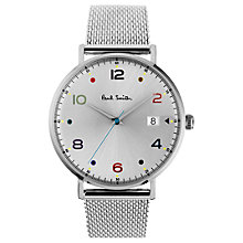 Buy Paul Smith PS0060001 Men's Gauge Date Mesh Bracelet Strap Watch, Silver Online at johnlewis.com