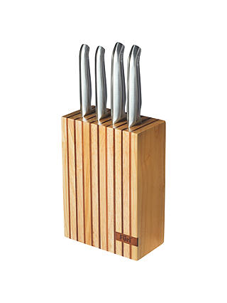 Buy Furi Pro Wooden Knife Block with Knives, 4 Pieces Online at johnlewis.com