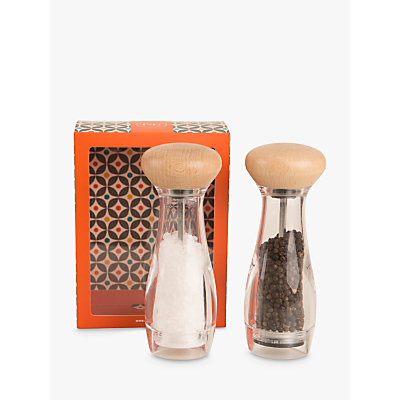 Image of T & G Pebble Salt and Pepper Mill Set, Clear/Natural