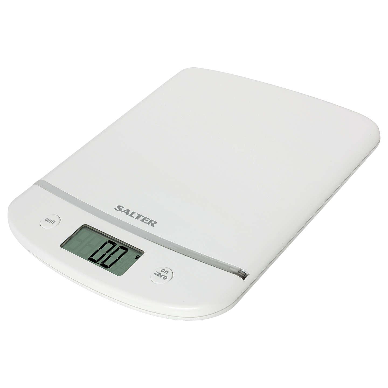 Salter Aquatronic Electronic Kitchen Scale, White, 5kg at John Lewis
