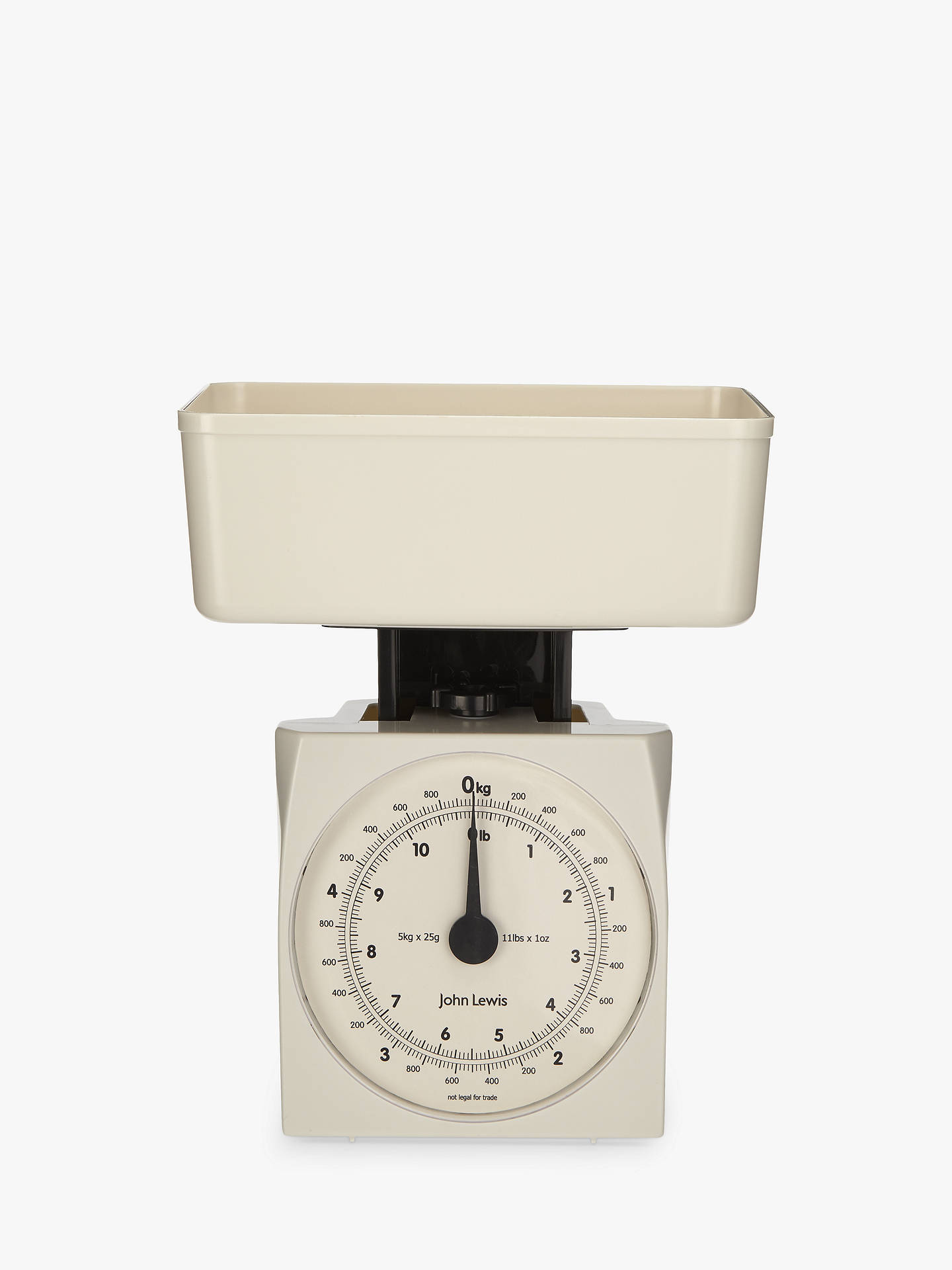 BuyJohn Lewis & Partners The Basics Mechanical Kitchen Scale, White, 5kg Online at johnlewis.com