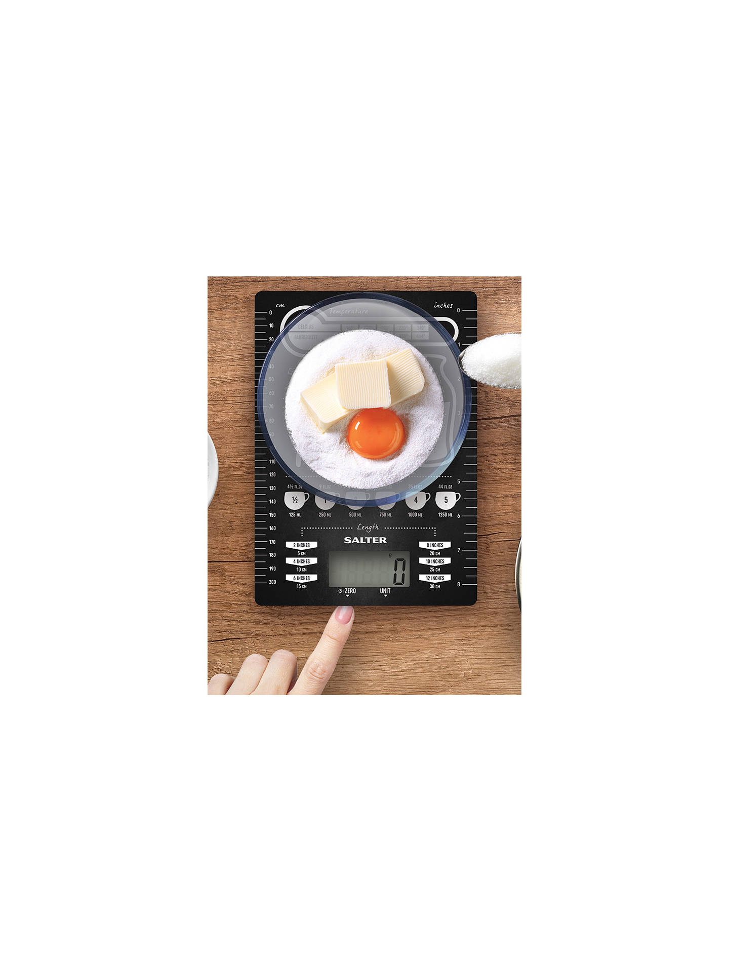 BuySalter Conversion Table Electronic Kitchen Scale, Black, 5kg Online at johnlewis.com