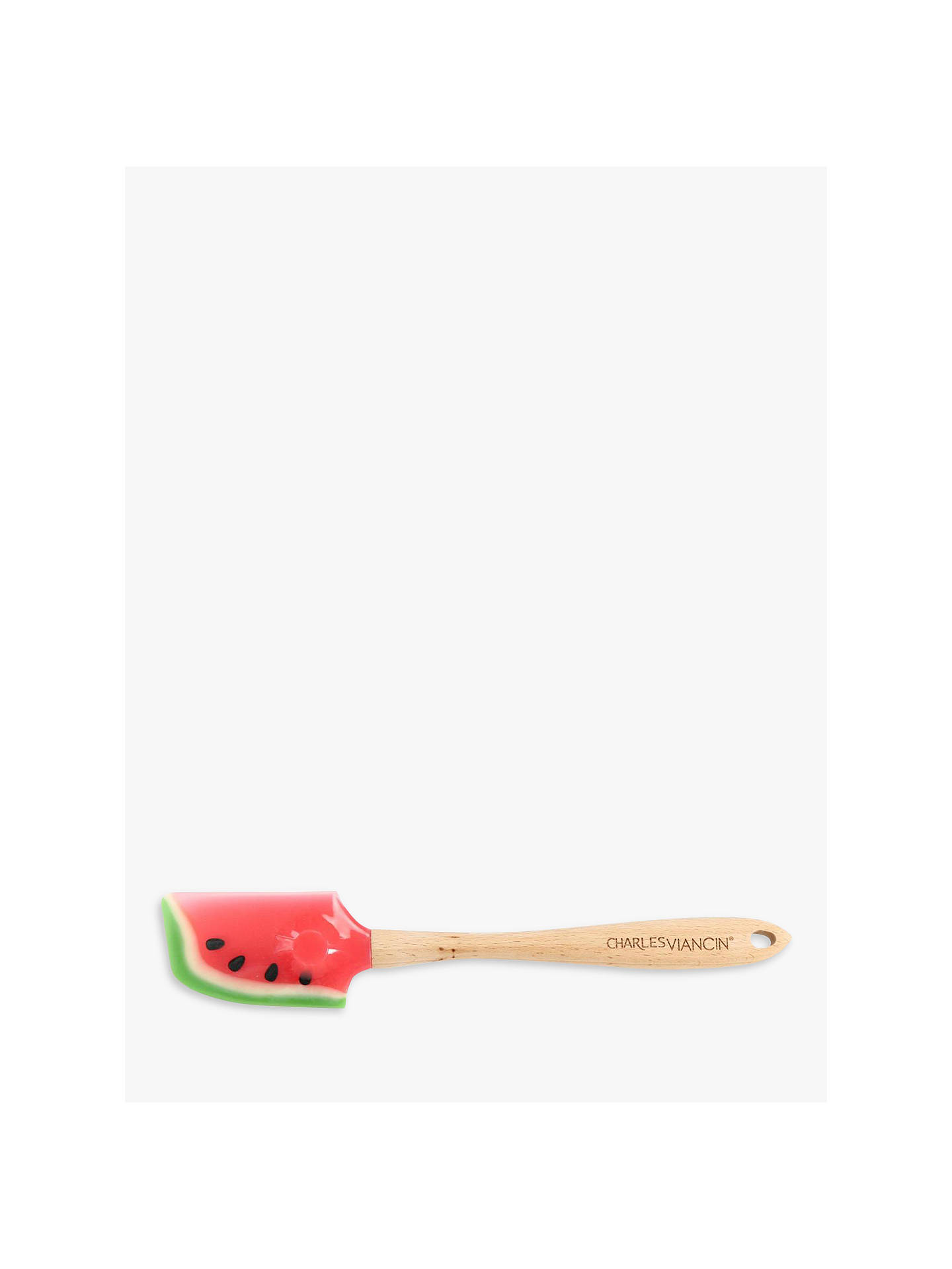 BuyCharles Viancin Watermelon Wood Spatula, L32cm Online at johnlewis.com