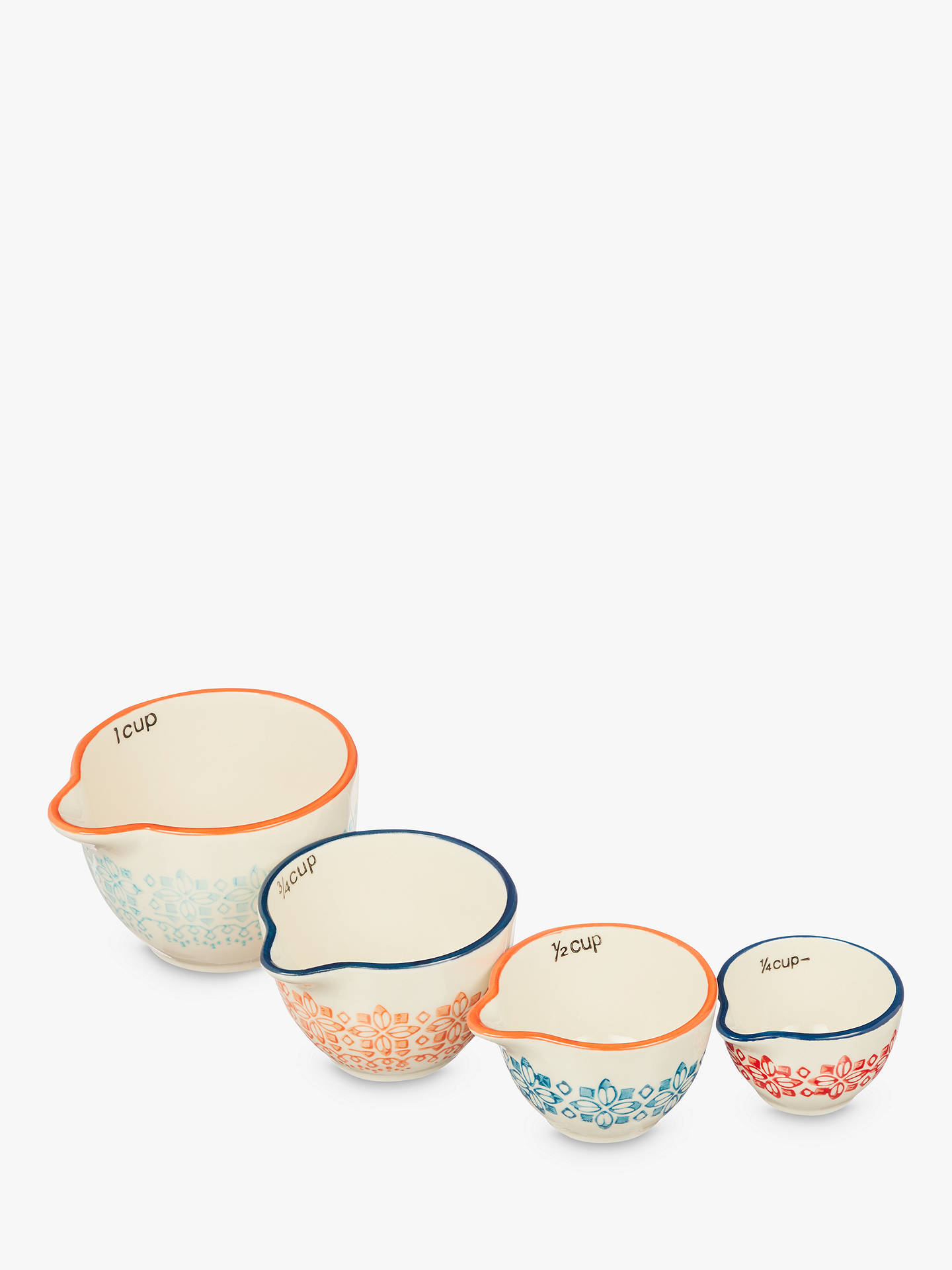 BuyJohn Lewis & Partners Fusion Nesting Measuring Cups, Assorted, Set of 4 Online at johnlewis.com