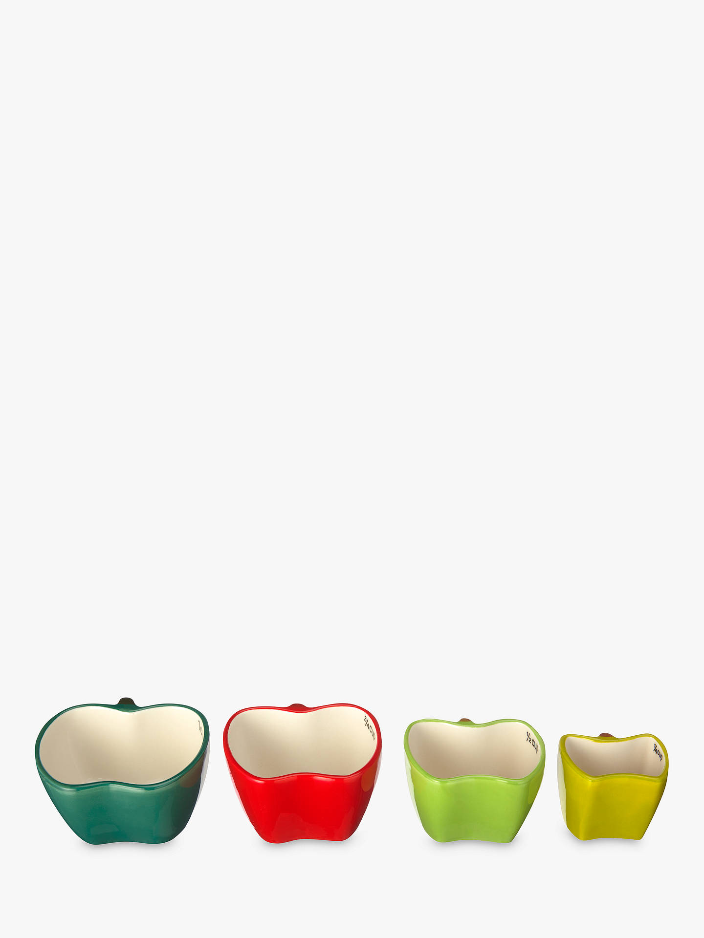 BuyJohn Lewis & Partners Five-A-Day Apple Nesting Measuring Cups, Assorted, Set of 4 Online at johnlewis.com