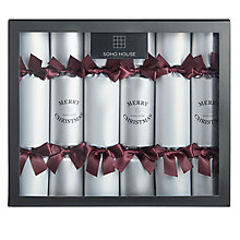 Buy Soho Home Luxury Barware Gifts Christmas Crackers, Pack of 6, Silver/Purple Online at johnlewis.com