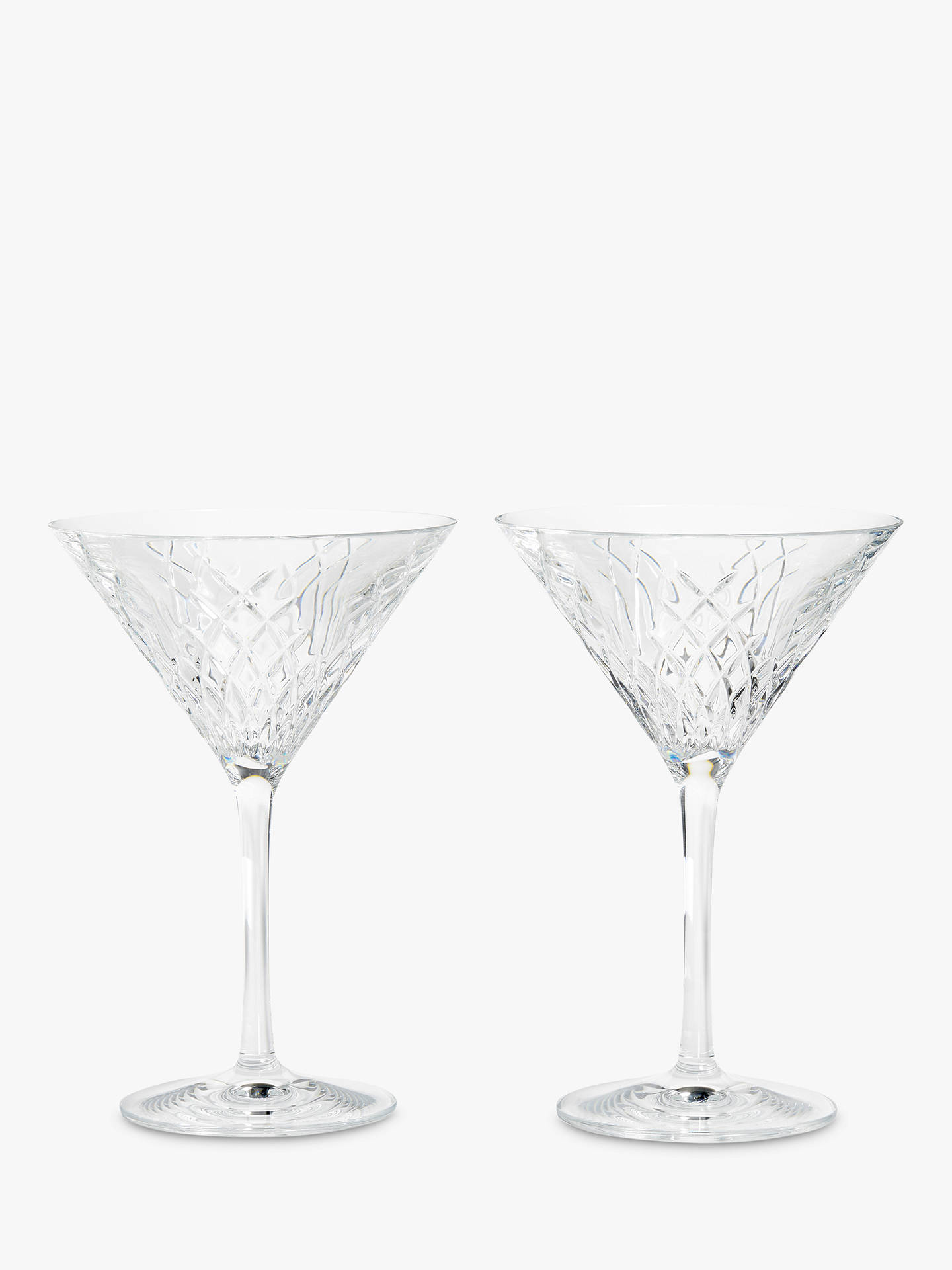 Buy Soho Home Barwell Crystal Cut Martini Glasses, 225ml, Set of 2 Online at johnlewis.com
