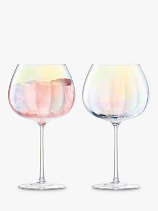LSA International Pearl Balloon Wine Goblets, 650ml, Set of 2