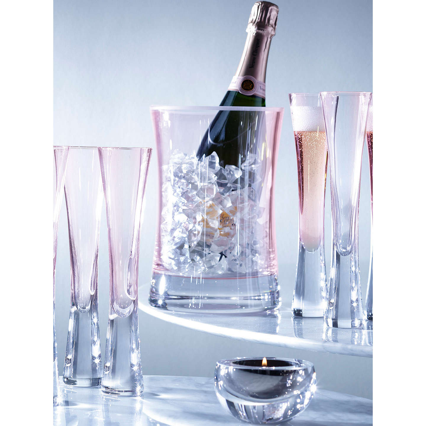 BuyLSA International Moya Champagne Flutes, Blush, 170ml, Set of 2 Online at johnlewis.com