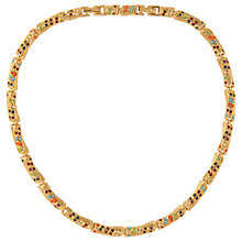 Buy Susan Caplan Vintage 1980s D'Orlan 22ct Gold Plated Faux Pearl and Swarovski Crystal Collar Necklace, Gold/Multi Online at johnlewis.com