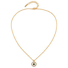 Buy Susan Caplan Vintage 1980s D'Orlan 22ct Gold Plated Swarovski Crystal Round Pendant Necklace, Gold Online at johnlewis.com