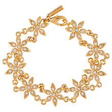 Buy Susan Caplan Vintage 1980s D'Orlan 22ct Gold Plated Swarovski Crystal Flower Bracelet, Gold Online at johnlewis.com