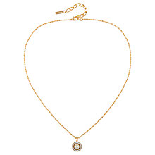 Buy Susan Caplan Vintage 1980s D'Orlan 22ct Gold Plated Faux Pearl and Swarovski Crystal Pendant Necklace, Gold Online at johnlewis.com