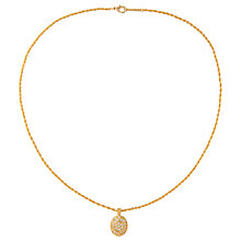 Buy Susan Caplan Vintage 1980s D'Orlan 22ct Gold Plated Swarovski Crystal Oval Pendant Necklace, Gold Online at johnlewis.com