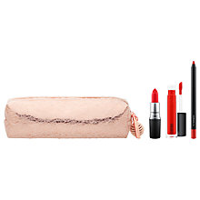 Buy MAC Snow Ball Lip Bag, Red Online at johnlewis.com