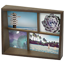 Buy Umbra Edge Multi-Photo Frame, Aged Walnut Online at johnlewis.com