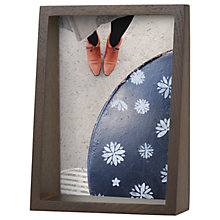 "Buy Umbra Edge Photo Frame, 5 x 7"" (13 x 18cm), Walnut Online at johnlewis.com"