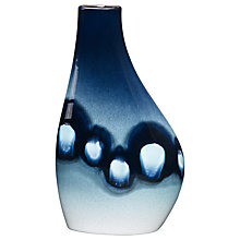 Buy Poole Pottery Orchid Asymmetrical Flask Vase, Blue Online at johnlewis.com