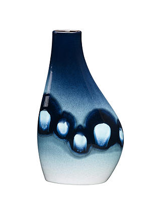 Buy Poole Pottery Blue Orchid Asymmetrical Flask Vase Online at johnlewis.com