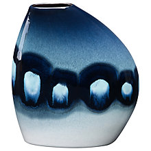 Buy Poole Pottery Blue Orchid Asymmetrical Bean Vase Online at johnlewis.com
