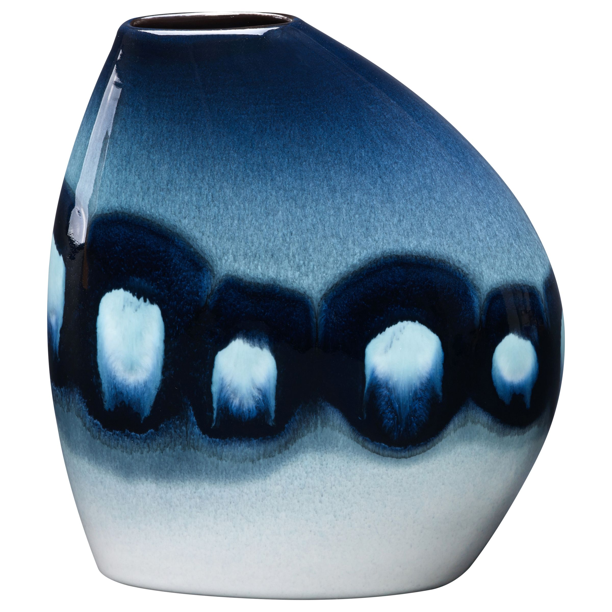 Poole pottery blue orchid asymmetrical bean vase bluewater 10500 reviewsmspy