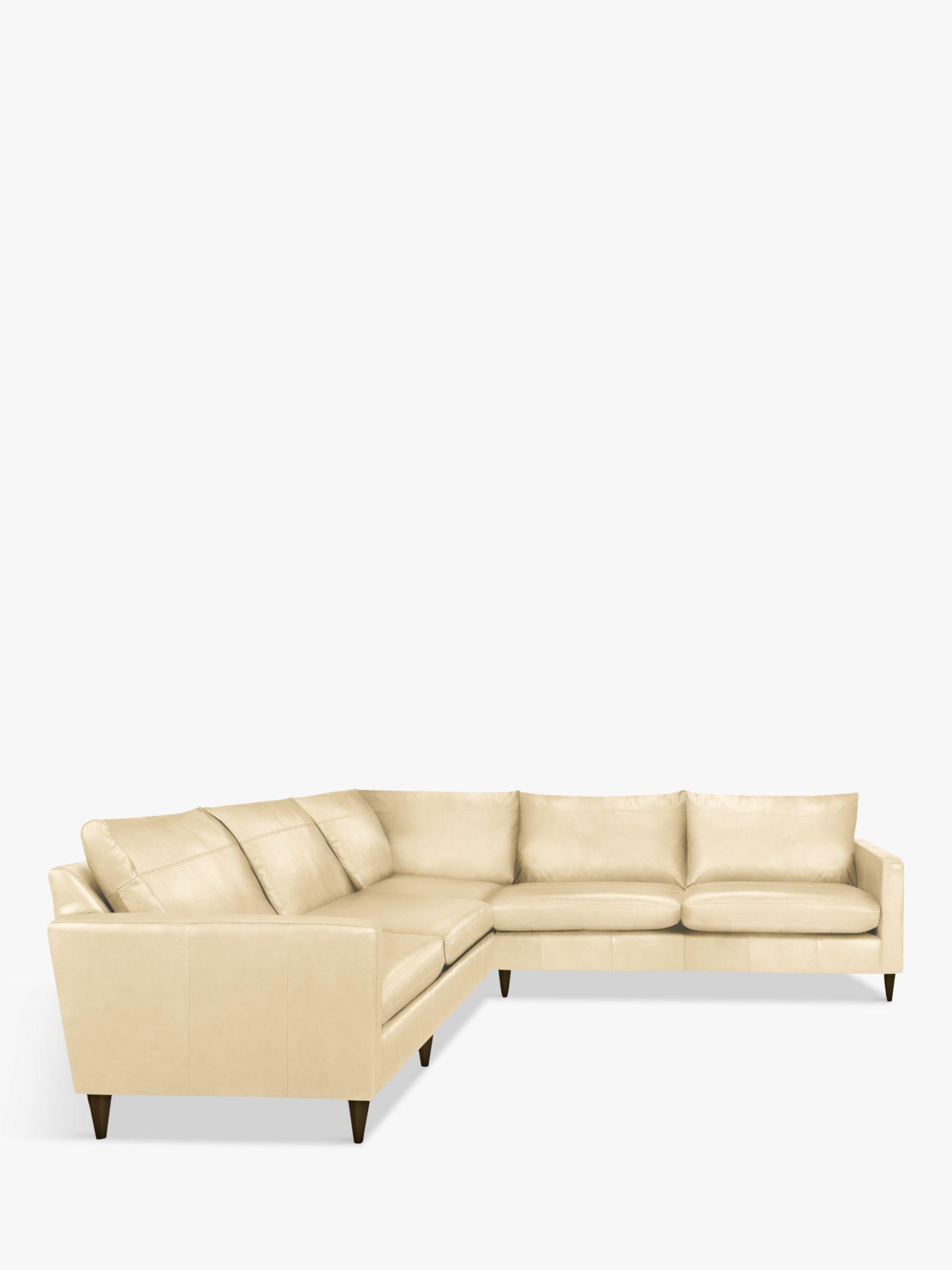 John Lewis Partners Bailey Leather Corner Sofa Dark Leg Review