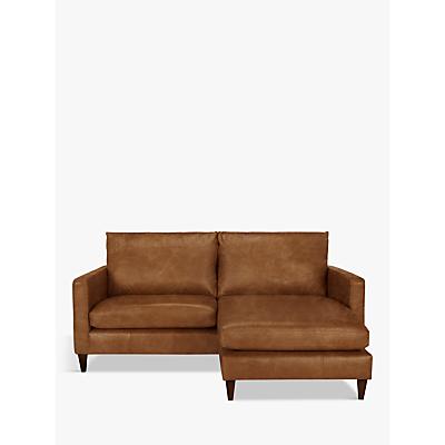 John Lewis & Partners Bailey Leather RHF Chaise End Sofa, Dark Leg