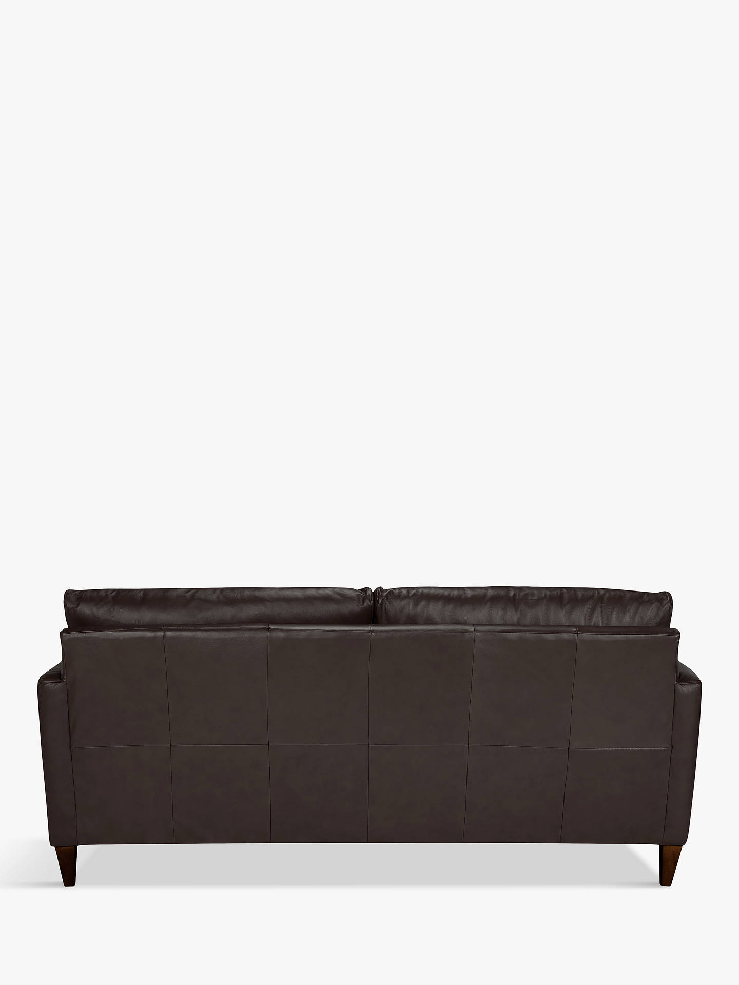 Buy John Lewis & Partners Bailey Leather LHF Chaise End Sofa, Dark Leg, Demetra Charcoal Online at johnlewis.com
