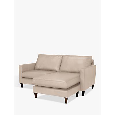 John Lewis Bailey Leather RHF Chaise End Sofa, Dark Leg