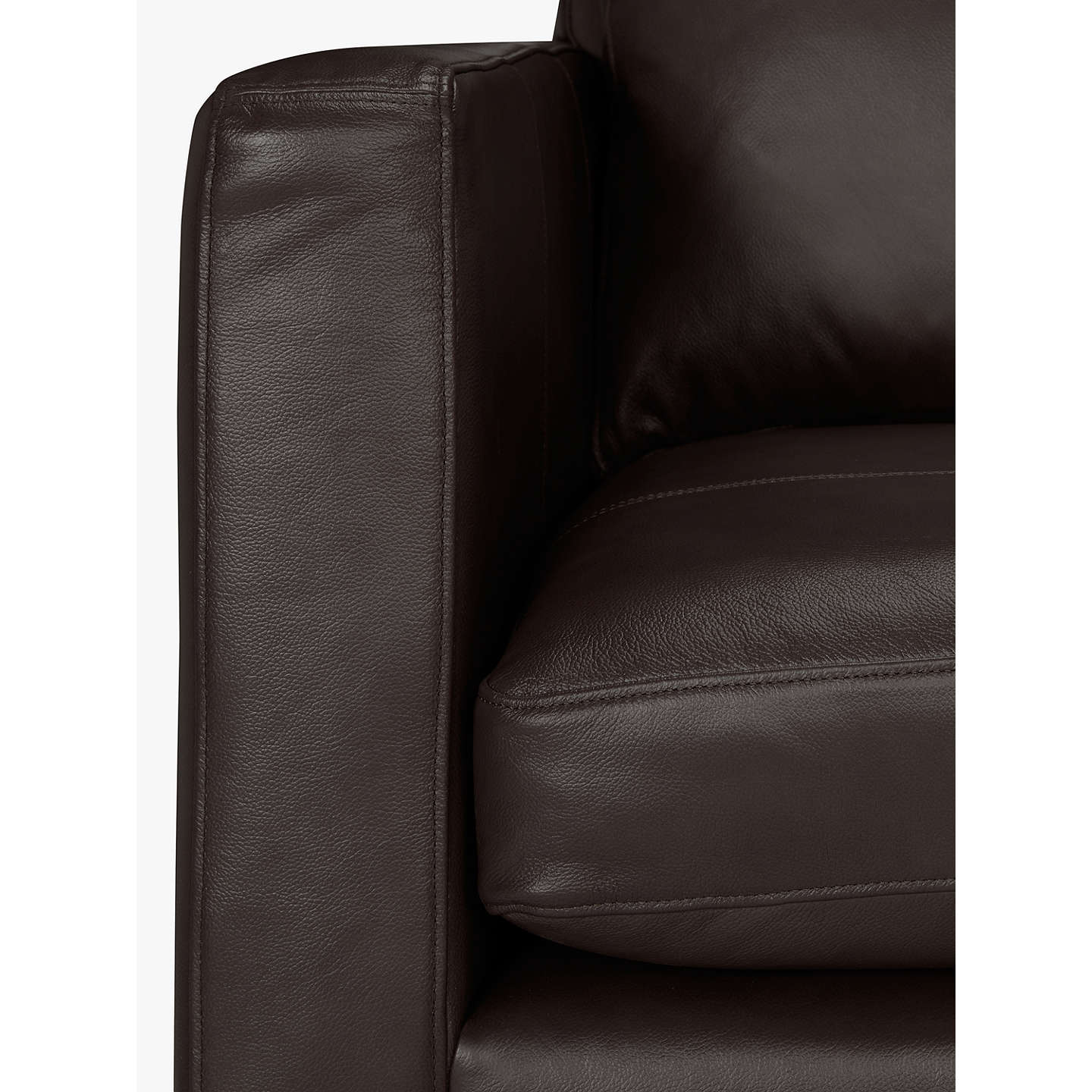 BuyJohn Lewis Bailey Leather RHF Chaise End Sofa, Dark Leg, Demetra Charcoal Online at johnlewis.com