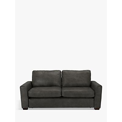 John Lewis & Partners Oliver Leather Large 3 Seater Sofa, Dark Leg