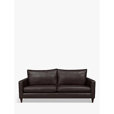 John Lewis & Partners Bailey Leather Grand 4 Seater Sofa, Dark Leg