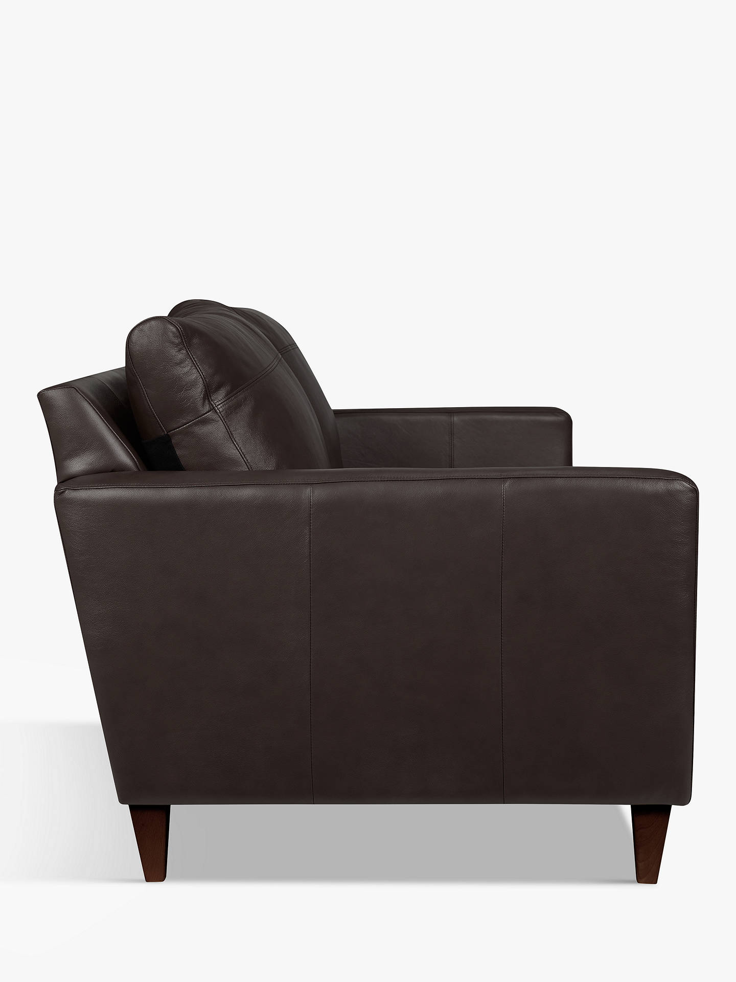 Buy John Lewis & Partners Bailey Leather Grand 4 Seater Sofa, Dark Leg, Demetra Charcoal Online at johnlewis.com