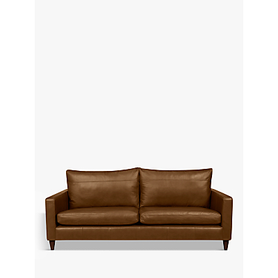 John Lewis & Partners Bailey Leather Grand 4 Seater Sofa, Dark Leg