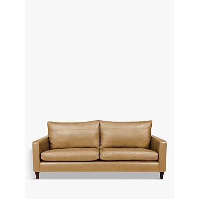 John Lewis Bailey Leather Grand 4 Seater Sofa, Dark Leg